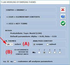 The Help Text T Lab Plus 2020 On Line Help T Lab Tools For Text Analysis