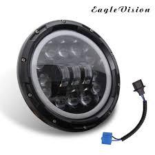 Ring Beams Led Lights Amazon Com Umiwe 7 Inch Led Headlights Sealed Beam For Car