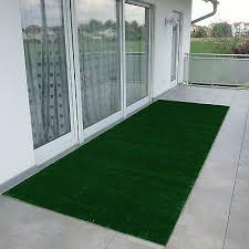 indoor outdoor green artificial grass turf solid non slip area rug rv patio mat