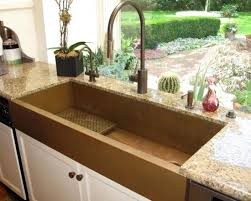 wide sink. more space for dishes.