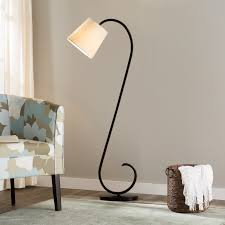 Oak Bedroom Chair Lamps Black Modern Floor Lamp White Bell Shade Decorative