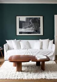 bleu vert living room
