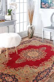 lal medallion kirman wool rugs