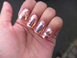 new korean nail art trend broken glass nail art and shattered ...