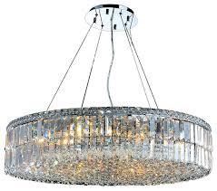 cascade 18 light clear crystal round chandelier chrome 32 brilliant