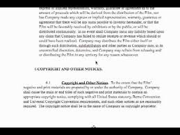Film Investor Contract - Youtube
