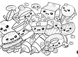 Coloring Pages For Kids Online Halloween Pumpkin Disney Food Sheets