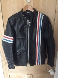 vintage tt leathers easy rider johnny knoxville cafe racer biker jacket moto