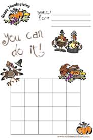 Thanksgiving Behavior Charts To Print And Thanksgiving