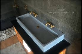 trough bathroom sink large double trough gray granite stone bathroom sink undermount trough bathroom sink with