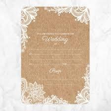 Wedding Invitatiins Rustic Lace Pattern Wedding Invitations