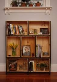 Wine crate shelves. I'm not big on the brackets, but great way to use the  old crates, with such cool graphics. | Craft Room Ideas | Pinterest | Crate  ...