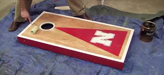 Wooden Corn Hole Game How to build a Cornhole Toss Game Set Cornhole Board Plans 69