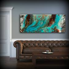 zoom on blue brown wall art with aqua print blue and brown wall art decor colourful bohemian