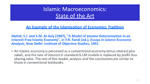 macroeconomics in islamic economy a theoretical perspective ppt  17 islamic