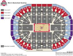 Value City Arena Seating Chart With Rows Mens Basketball Faqs Ohio State Buckeyes