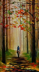 autumn stroll on a horse