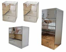 mirrored bedside furniture. MY-Furniture Mirrored Bedroom Furniture Package, 3 Draw Low Chest, 2 Bedside  Tables \u0026 Tallboy: Amazon.co.uk: Kitchen Home Mirrored Bedside Furniture B