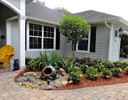 Front Yard Landscaping Without Grass Garden And Patio Minimalist Rustic  Modern House Design With The