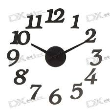 stylish diy interior decorating wall clock 1 aa color assorted