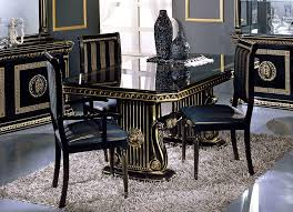 contemporary italian dining room furniture. Room · Rosella Italian Classic Black Rectangular Dining Table Contemporary Furniture