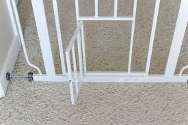 carlson pet gate with cat door open