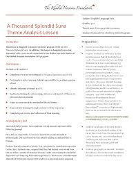 thousand splendid suns essay