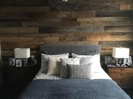 reclaimed wood wall bedroom wood walls