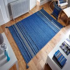 kelim blue flatweave rug by oriental weavers