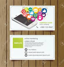 Buisness Card Online Business Card Template For Online Marketing Vector