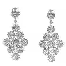4 15 carat diamond platinum dangle chandelier earrings for 2