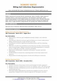 Collections Representative Resume Samples Qwikresume