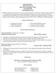 Medical Resume Samples Medical Billing Resume Examples Medical