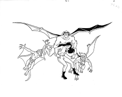 Looking for free disney coloring pages? Gargoyles Book Page Original Illustration Hand Inked Drawing 1996 Page 11 At Amazon S Entertainment Collectibles Store
