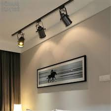 ceiling track lighting systems. Industrial Vintage Loft American Black Track Spotlights E27 With Ceiling Lighting Plan Systems