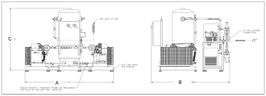 ohio medical oil less reciprocating piston air compressor systems ohio medical air compressor dimensional drawing click to enlarge