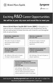 Jobs In Bristol Myers Squibb Vacancies In Bristol Myers Squibb
