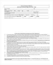 printable registration form template registration form template 9 free pdf word documents download