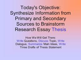 essay on brainstorming essay brainstorming questions teodor ilincai essay uk today s objective synthesize information from primary and