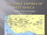 Spec Chart For Ghana Mali And Songhai Empires Of Africa