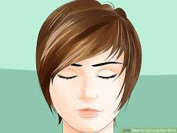 image titled cut long hair short step 3