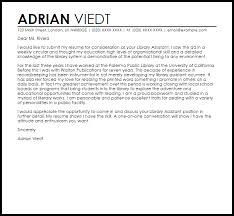 Librarian Cover Letter Sample 21 Library Assistant Cover Letter