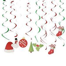 Christmas Swirls Amazon Com Christmas Hanging Swirl Decoration Kit 30pcs