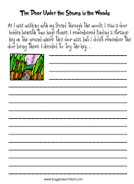 esl creative writing worksheets the door under the stones