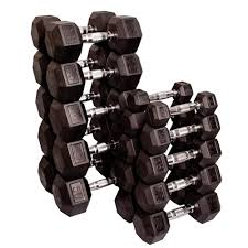 Rubber Coated Hex Dumbbell Set With Rack Gorgeous Bodysolid Rubber Coated Hex Dumbbell Sets