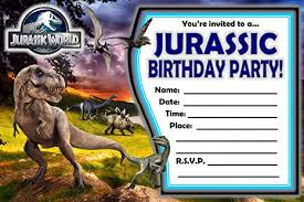 Jurassic Park Invitations 12 Jurassic World Birthday Invitations 12 5x7in Cards 12 Matching White Envelopes