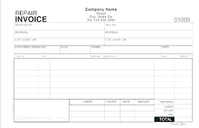 Invoice Template For Free Custom Automotive Invoice Template Auto Receipt Form Glass Statuco