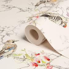 Statement Ornithology Birds Metallic Effect Wallpaper | Departments | DIY  at B&Q