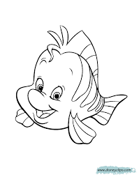 Small Picture Flounder Coloring Pages The Little Mermaid Coloring Pages Disney