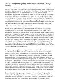 writing college essays examples of college essayssummer camp view larger